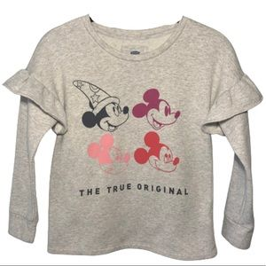 Disney Mickey Mouse ruffle long sleeve top